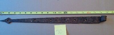 Antique Hand Wrought Barn Door Strap Hinge - Quabbin Flooded Town Relic #10