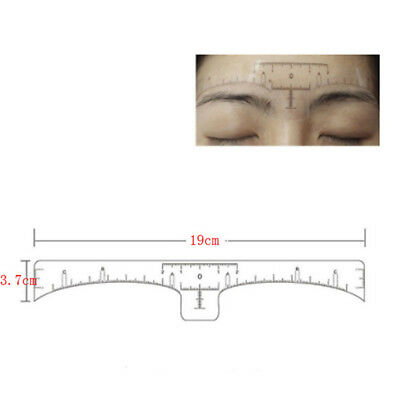 10/50Pcs Disposable Eyebrow Ruler Stickers Tattoo Microblading Measure Tool New