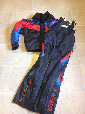 Vintage Youth M-L Adult XS-S Yamaha Snowmobile Winter Jacket 3-in-1 Bib Pants