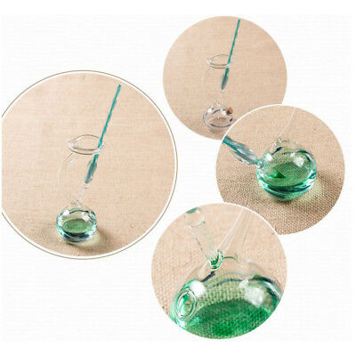 Pen Crystal Glass Dip With Holder Signature Glass Pen Business Office Gift Decor