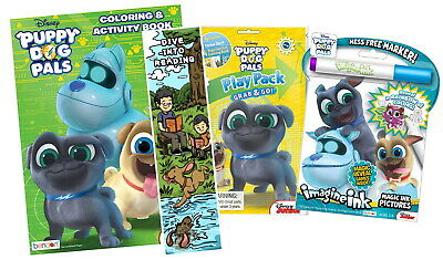 NEW Lot Of 3 Disney Puppy Dog Pals Coloring Activity Items Imagine Ink