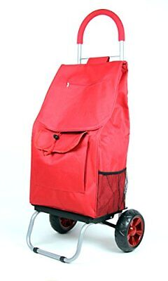Grocery Stair Climber Foldable Cart Bag Wheel Basket Utility Dolly Trolley Red