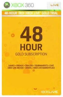 Xbox Live Gold 360/Xbox One 48-hour 2-day subscription code trial