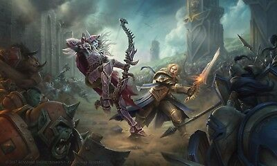 Poster 42x24 cm World of Warcraf Battle for Azeroth Blizzard Anduin Sylvanas 01