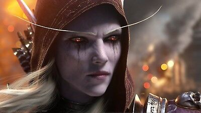 Poster 42x24 cm World of Warcraf Battle for Azeroth Blizzard La Horda Sylvanas