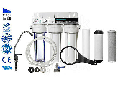 Home Drinking Water Filter System With Faucet + Accessories Domestic Under Sink