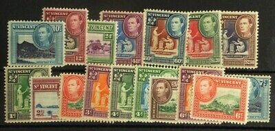Stamps: St. Vincent: SG# 164-176  MLH except 170 Used s.s. of 17 E779