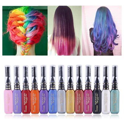 7 Colors Unisex Temporary Hair Dye Mascara Cream Crème Cheveux DIY Hair Dye Pen