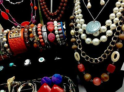 JEWELRY LOT Vintage Modern SIGNED Costume Fashion Resale Wear Gifts 15 pc BONUS