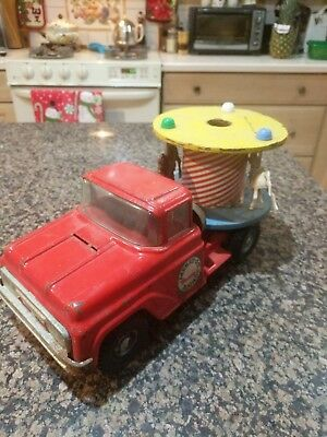 Vintage 1960's Buddy L Merry-Go-Round Carousel Toy Pressed Steel Pickup Truck