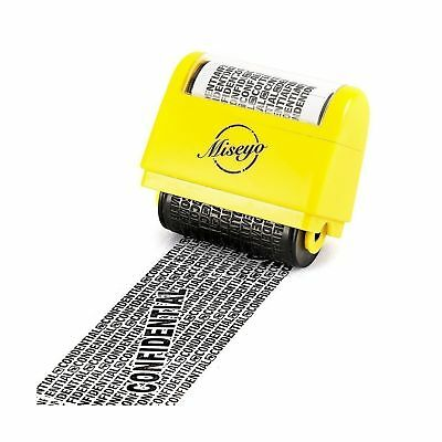 Miseyo Wide Roller Stamp Identity Theft Stamp 1.5 Inch Perfect for Privacy Pr...