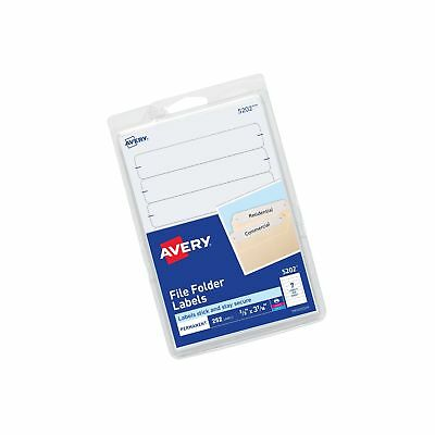 Avery File Folder Labels Laser and Inkjet Printers 1/3 Cut White Pack of 252 ...