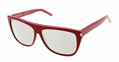 f2af05d3b00 RARE NEW Genuine YSL YVES SAINT LAURENT Red Mirror Kardashian Sunglasses SL1  4Q7