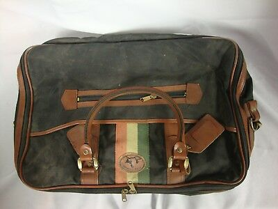 85bdbbc1f5c1 Stag Country Black Brown Leather Carry On Duffle Tote Bag Luggage Unisex  Storage