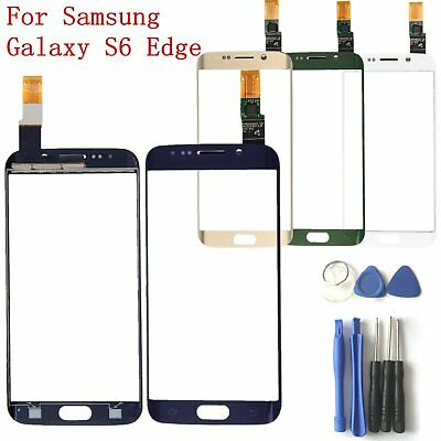 Front Touch Screen Digitizer Glass + Tool for Samsung Galaxy S6 Edge Replacement