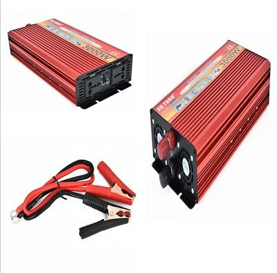 Portable Durable 3000W Power Inverter Auto Converter Charger Modified Sine Wave