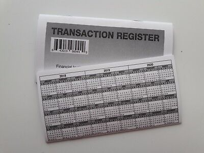20 - Checkbook Transaction Registers - 2018-20 Calendar - Check Book Bank