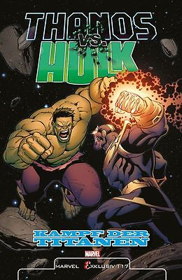 MARVEL EXKLUSIV HC 117  THANOS VS HULK lim.Variant-Hardcover JIM STARLIN