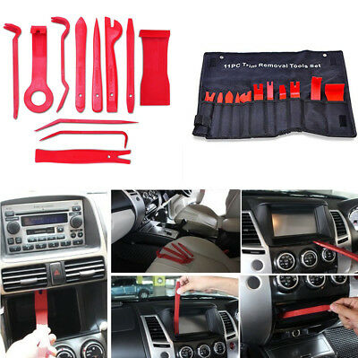 11Pcs Auto Car Nylon Trim Removal Hand Tools Upholstery Clip Panel Remover Kit