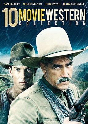 10-Film Western Collection Sam Elliott DVD Set Jerry O'Connell William Shatner R