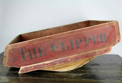 Vintage Antique Clipper Fanning Mill Grain Seed Cleaner Wood Box Rustic Farm