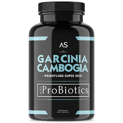 Angry Supplements Garcinia Cambogia w. ProBiotics, Weight Loss Combo, 1 Bottle