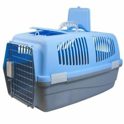 Large Pet Carrier Plastic Travel Basket Crate Carry Handle Door Cat Dog Rabbit