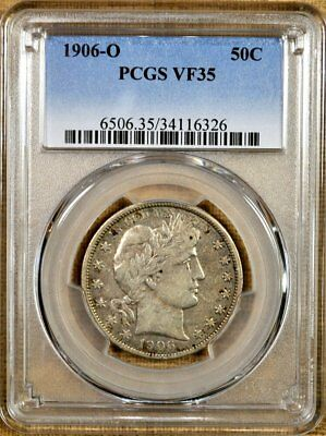 1906-O PCGS VF35 Barber Half Dollar - Better Date