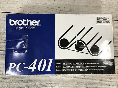Genuine OEM Brother PC-401 Fax Printing Cartridge 560 565 PC401