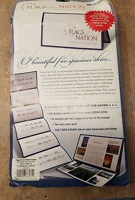 Usps Forever Stamps Flags Of Our Nation Collector's Folder W Coil Of 50 Series 1