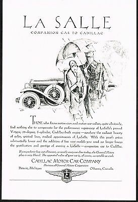 1928 Old Vintage Cadillac La Salle Motor Car Automobile Co Art Deco Print Ad b