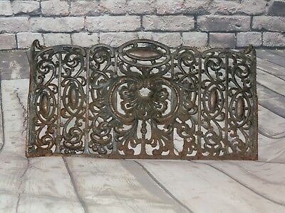 Antique Victorian Cast Iron Grate Architectural Salvage Fireplace Gas Grill