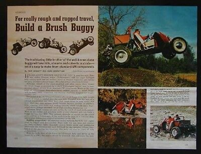 Off Road Brush / Dune Buggy from VW parts & power How-To build PLANS
