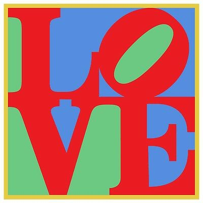 """LOVE Poster, Ultra-High Quality Archival Print, Classic Colors Indiana 24"""" x 24"""""""