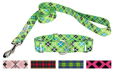 Country Brook Design® Martingale Collar & Leash - Plaid and Argyle Collection