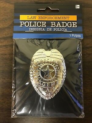 Lot of 9 Special Agent Costume Badges