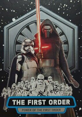 """JOURNEY to Star Wars FORCE AWAKENS  """" Power of The First Order """" CARD Set of 8"""