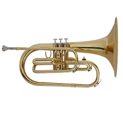 marching mellophone  kit F key brass body gold lacquer #3579