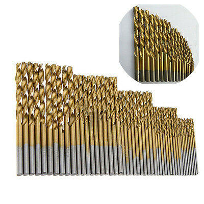50x HSS Cobalt Foret Fraise 1.0mm-3.0mm Percage Perceuse Forage Drill Bit Kit NF