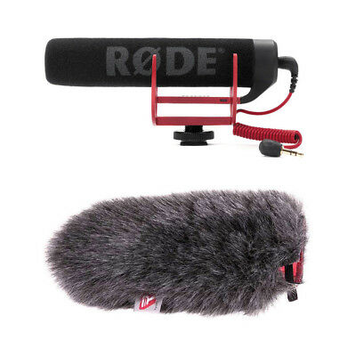 Rode VideoMic GO Lightweight On-Camera Mic with Rycote 055455 Mini Windjammer