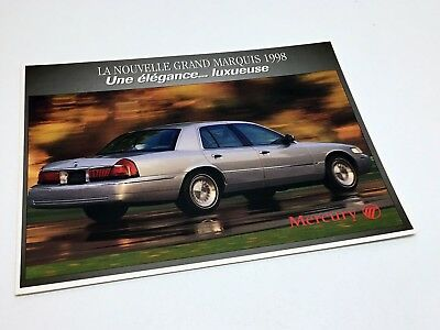 1998 Mercury Grand Marquis Launch Redesign Preview Brochure - French