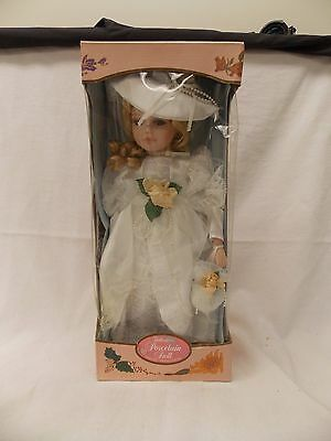 Wedding Bride Porcelain Doll Kingstate  Porcelain Collection NRFB