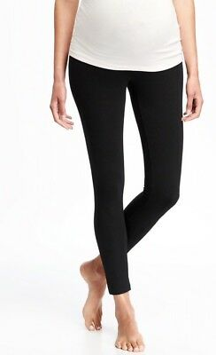 Old Navy Black Maternity Full-Panel Jersey Leggings ~ NWT XXL