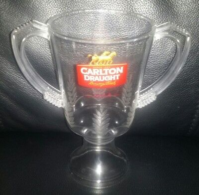 Collectable 2014 Afl Premiership 425Ml Carlton Draught Plastic Beer Glass Used