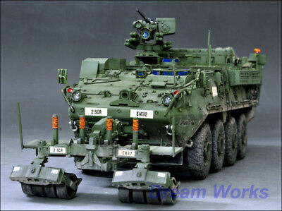 Award Winner Built Trumpeter 1/35 M1132 Stryker EngineerSquad Vehicle Mw/LWMR