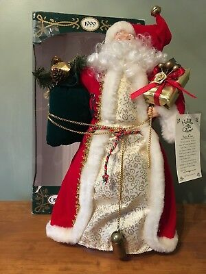Vintage Santa Claus Christmas tree topper  Holiday Collection 1999 20""