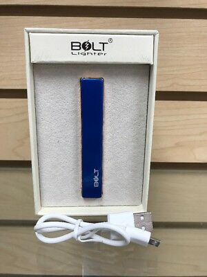 Bolt Electronic Coil Lighter USB Charger Blue With Copper Color Free Shipping