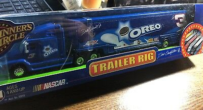 Dale Earnhardt Jr 2002 Blue Oreo Trailer Rig Race Car Hauler 1:64 Winners Circle
