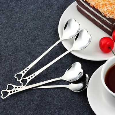 Heart Shaped Stainless Steel Coffee Dessert Spoon Teaspoon Household Spoons Gift