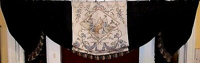 "Custom Made Large LEE JOFA French ""La Coiffure"" Toile and 100% Linen Valance"